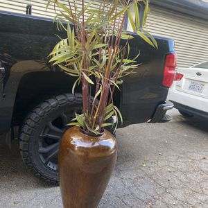 "Nice 27"" Decor Jar With Fake Plant for Sale in Long Beach, CA"