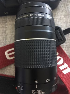 Canon EF 75-300mm 1.5m/4.9ft III telephoto Zoom Lens for SLR Cameras for Sale in Miami, FL