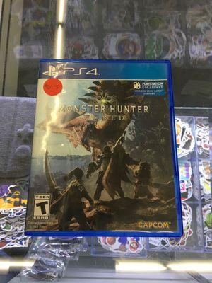 Monster Hunter World - Playstation 4 (PS4) for Sale in San Bernardino, CA