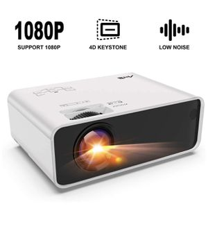 Mini Projector Portable Projector with ± 45 ° Digital 4D Keystone Correction Correct Lower Noise, HiFi Stereo, 1080P Support Movie Projector Compatib for Sale in Hoboken, NJ