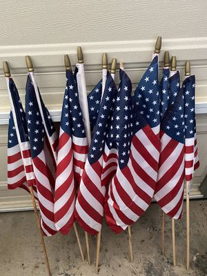 $10 for 11 American flags 🇺🇸 for Sale in Midway City, CA