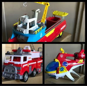 Paw patrol - Sea patroller - Sub patroller and Ultimate rescue fire truck All three for Sale in Irving, TX