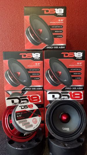 Ds 18 Pro Audio Loud anc clear Voice midrange speakers 600 watts $29 Each(1)/ Bocinas Ds18 audio $29 Cada una(1) son de 600w for Sale in Houston, TX