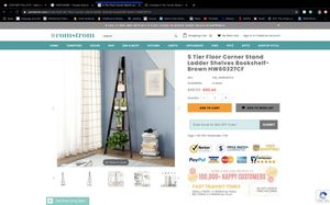 Costway 5 tier corner ladder shelf for Sale in Corona, CA