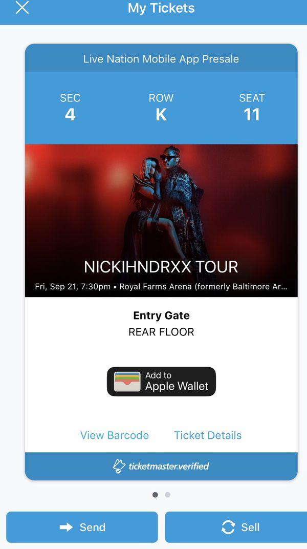 NICKIHNDRXX TOUR BALTIMORE SEPT 21st...