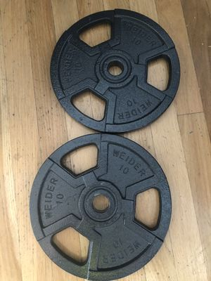 Brand NEW WEIDER 10 lbs weight plates set of 2 for Sale in Livermore, CA