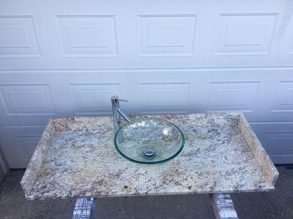 Granite counter top w/ sink & faucet