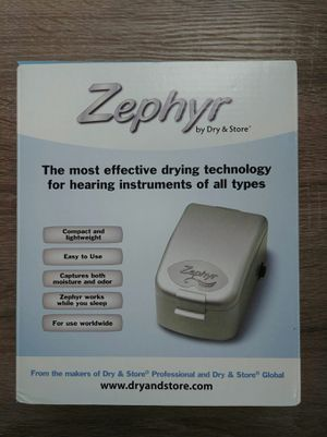 Zephyr by Dry & Store Hearing Aid Dryer/Dehumidifier for Sale in Atlanta, GA