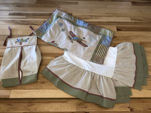 Crib Bedding + Diaper Stacker for Sale in Englewood, CO