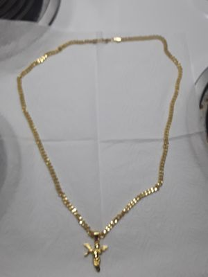 30 inch gold plated link chain with gold plated Angel. Great gift 75 obo for Sale in Mechanicsburg, PA