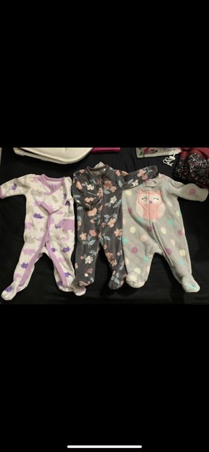 Newborn baby girl sleepers and more! for Sale in Clovis, CA