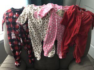 3-6 month baby girl pjs x 13 for Sale in Alexandria, VA