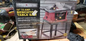 Chicago 15amp 10 inch table saw brand new for Sale in Gaffney, SC