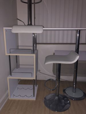 Bar Table with storage shelves with chrome finish for Sale in Miami, FL