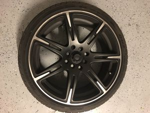 """17"""" ICW RACING RIMS : black with chrome trim, with tires for Sale in Las Vegas, NV"""