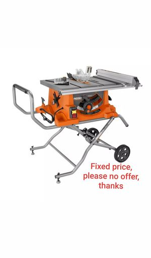 Ridgid R4513 Heavy-Duty Portable Table Saw with Stand for Sale in Upper Marlboro, MD