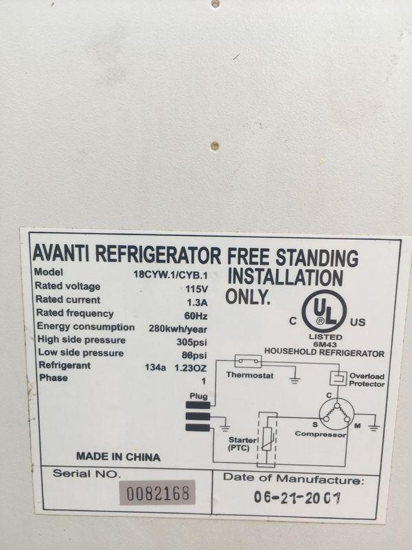 Avanti mini fridge for Sale in Pacific, WA - OfferUp