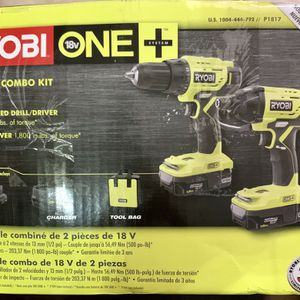 New Ryobi 18 Volt ONE+ Cordless 2 Tool Combo for Sale in Poinciana, FL