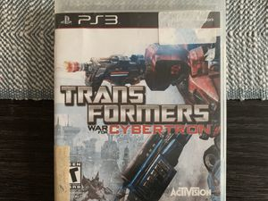 Transformers War for Cybertron PS3 for Sale in Linden, NJ