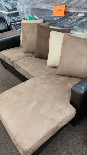 Chocolate Sofa with Chaise for Sale in Pensacola, FL