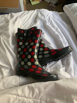 Polka dot rain boots for Sale in Clearwater, FL