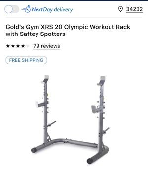 Olympic workout rack for Sale in Sarasota, FL