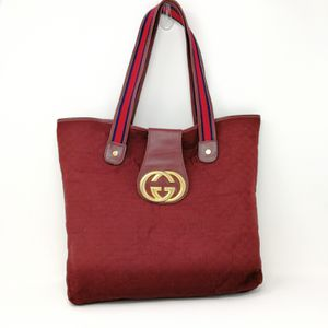 Vintage Gucci Burgundy Red Monogram Canvas Tote for Sale in Murfreesboro, TN