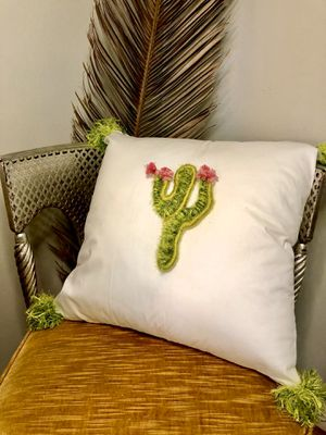 Cactus, cactus pillow, pillow, throw pillow, macrame, macrame pillow, succulents, cactus, boho, bohemian, decor, nursery for Sale in Riverside, CA