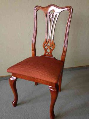 Italian top quality desk chair, cherry wood finish for Sale in Sun Lakes, AZ
