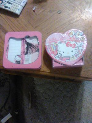 Hello Kitty stationary and colorbox heart container for Sale in Minneapolis, MN