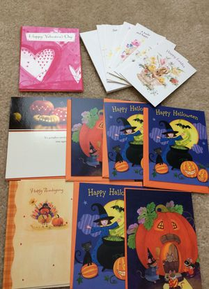 Easter thanksgiving Halloween , valentine greeting cards for Sale in Delaware, OH