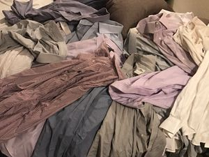 Lot (17) CLEAN XL XXL dress shirts polo banana republic Nordstrom Lacoste jos bank dockers náutica chaps for Sale in San Diego, CA
