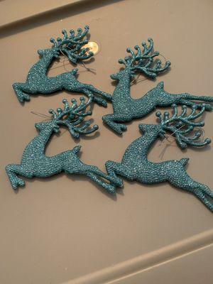 Four reindeer ornaments for Sale in Mechanicsville, VA