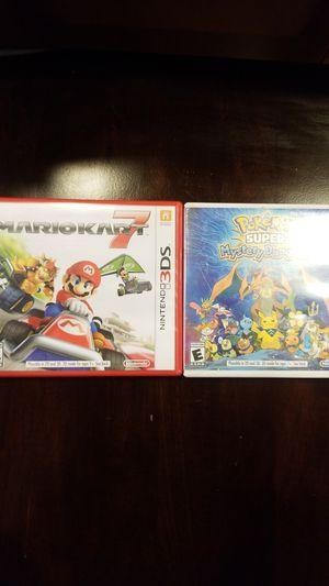 Nintendo 3DS Games- Mario Kart 7 / Pokemon Super Mystery Dungeon for Sale in Las Vegas, NV