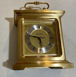 Vintage SETH THOMAS Carriage Rapture Solid Brass Quartz Alarm Clock for Sale in Sterling,  VA