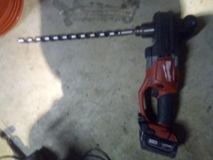 "Milwaukee fuel hole hawg right angle drill 1/2"" with battery m18 red lithium w charger for Sale in Folsom, CA"