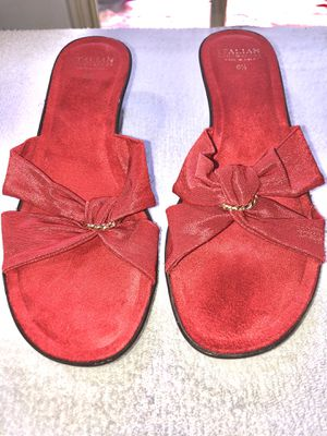 Red Suede/Suede-Like Sandals 6.5 US Size for Sale in Chattanooga, TN