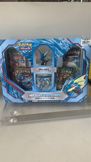 Mega Gyarados Collection Box Pokemon Booster pack Trading Cards Game for Sale in Garden Grove, CA