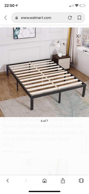 TATAGO Upgraded Heavy Duty Wooden Slats Platform Bed Frame, No noise & No Box Spring Needed TWIN size for Sale in Owings Mills, MD