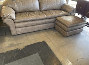 Leather sofa and Chair with Ottoman for Sale in Phoenix, AZ