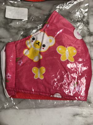 Pink flower and teddy bear cute face mask for Sale in Carrollton, TX