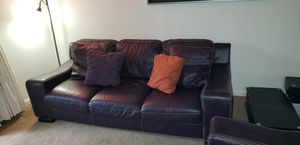Leather couch and loveseat with 2 tables for Sale in Nashville, TN