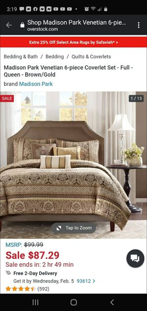 Madison Park..Full/Queen..5-Piece Quilt Set...So Luxurious and Lovely💋 for Sale in Clovis, CA