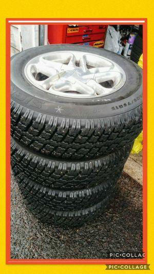 4 almost new/rims\snow tires 5holes universal 5x114/ 5x108 honda CRV, minivan for Sale in Vancouver, WA