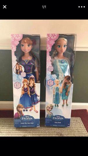 Big Frozen doll (Anna & Elsa) for Sale in Arlington, VA