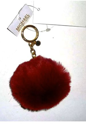 MICHAEL KORS FAUX FUR POM POM KEYRING CHARMS PLUM NEW for Sale in Lake Grove, OR