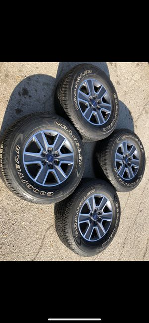 Like new Ford Factory rims and Goodyear tires 6 Lug Wheels Rines y llantas 2004 F 150 Expedition 2005 F-150 rines 2008 llantas 2009 y 2010 Platinum 2 for Sale in Dallas, TX
