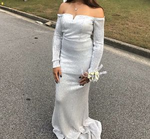 Silver Sparkle Prom Dress for Sale in Snellville, GA