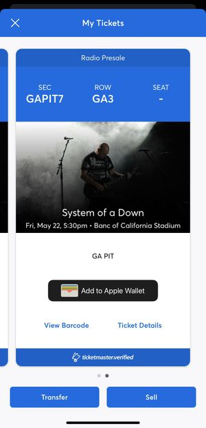 System of a Down tickets for Sale in Fontana, CA