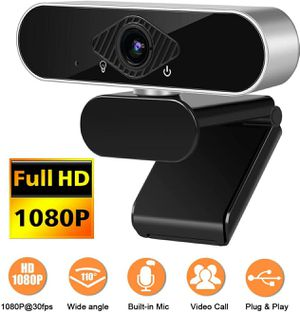 1080P Webcam with Microphone Full HD Computer Camera for PC Desktop for Sale in Queens, NY